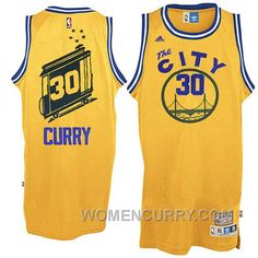 bd84b39db0a7 Golden State Warriors The City Bus  30 Stephen Curry Yellow Throwback Jersey  For Sale