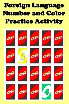 Foreign (World) Language Number and Color Practice Activity (French, Spanish) wlteacher.wordpre...