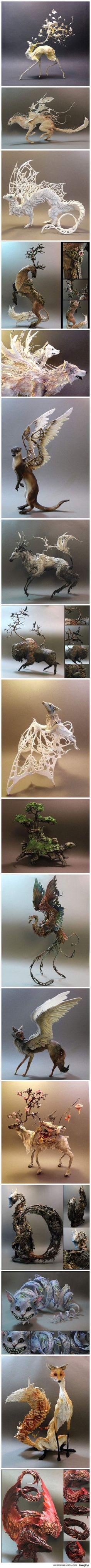 Przepiękne fantastyczne rzeźby!