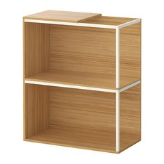 IKEA PS 2014 Storage combination with top, bamboo, white bamboo/white 23 5/8x27 1/2