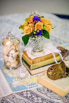 Travel themed wedding by Rent My Dust vintage rentals table scape decor with vintage maps, books, shells, purse and more. Wedding Sets, Wedding Blog, Wedding Reception, Wedding Day, Book Centerpieces, Floral Centerpieces, Vintage Maps, Vintage Table, Dallas Fort Worth Texas