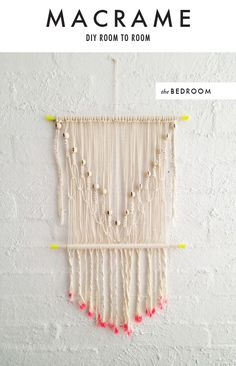 macrame wall hanging project | DIY room to room: Macrame - The House That Lars Built