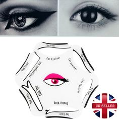 Eyeliner Stencil Cat Eye Liners Fish Tail Double Wing 6 In 1 Uk Seller Makeup Guide