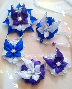 Фотографии КАРНАВАЛ ЦВЕТОВ-рукотворные цветы. Kanzashi Flowers, Diy Flowers, Fabric Flowers, Ribbon Braids, Hair Decorations, Boutique Hair Bows, Diy Headband, Flower Making, Diy Hairstyles