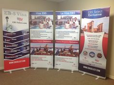 Retractable banners are portable and affordable.