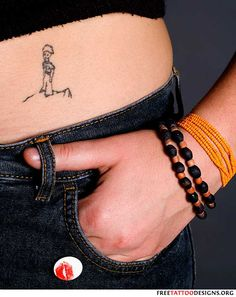 Girl with a Le Petit Prince tattoo