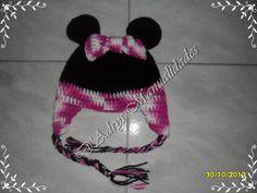 Gorro tejido de Minnie Mouse con orejeras y en rosa