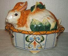 Fitz and Floyd Rabbit tureen.