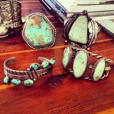 vintage jewelry- love turquoise with a little sparkle- mix it up