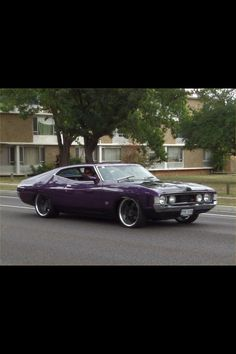 Purple XA coupe Australian Muscle Cars, Aussie Muscle Cars, Big Girl Toys, Ford Girl, Hot Rides, Speed Boats, Ford Motor Company, Retro Cars, Custom Cars