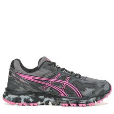 cc0ef5918676 ASICS Women s Gel-Scram 2 Trail Running Shoes (Black Pink) Trail Running  Shoes