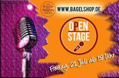 Go listen to some Music and sing on Stage :-) Viel Spaß bei unserer Open Stage im #bagelshop www.bagelshop.de