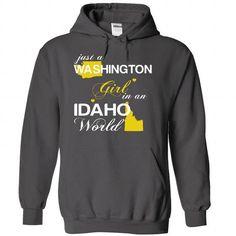 (WAJustVang002) Just A Washington Girl In A Idaho World - #hoodie creepypasta #sweater skirt. CHECK PRICE => https://www.sunfrog.com/Valentines/-28WAJustVang002-29-Just-A-Washington-Girl-In-A-Idaho-World-Charcoal-Hoodie.html?68278