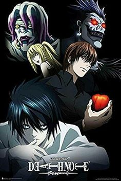 Shonen Jump Death Note Characters Anime Laminated Poster x inches Death Note Fanart, L Death Note, Emo, Animes To Watch, L Lawliet, Japanese Cartoon, Animation, Manga Drawing, Cartoon Art