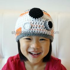 BB-8 hat BB8 hat Star Wars hat Crochet Droid by stylishbabyhats
