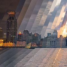 Qi Wei Fong capta imagens desde o nascer até o pôr do sol, obtendo uma variação de luz separada em camadas, de acordo com cada hora. Agora ele decidiu levar esse projeto além, criando animações em GIF com o timelapse dessas paisagens.