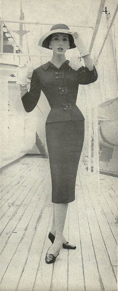 Paul Parnes Tailored Suit - Cruise Wear 1959. I just love it.