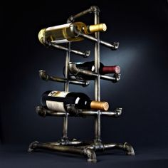 Industrial Age Metal Pipe Wine Rack, from HomeWetBar.com