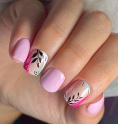 Nails Only, Get Nails, Hair And Nails, Pink Nails, Short Nail Manicure, Watermelon Nails, Plaid Nails, Nail Art For Beginners, Oval Nails