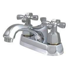 Bathroom Faucets DIY | Kingston Brass KS4261HX Homestead 4Inch Centerset Lavatory Faucet with PopUp Polished Chrome -- Be sure to check out this awesome product. Note:It is Affiliate Link to Amazon.