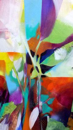 Acrylic on canvas- detail.  Artist: Ron Gordon