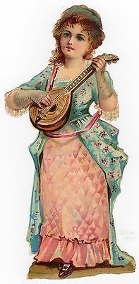 Glanzbilder - Victorian Die Cut - Victorian Scrap - Tube Victorienne - Glansbilleder - Plaatjes : musizierende Kinder