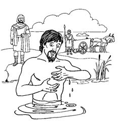 naaman and the servant girl coloring pages go wash and be cured