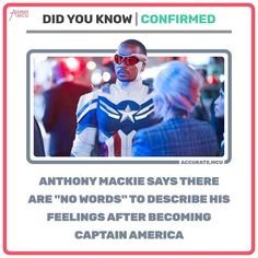 Marvel News, Anthony Mackie, Do You Know Me, Words To Describe, Marvel Cinematic Universe, Captain America, Thinking Of You, Thinking About You