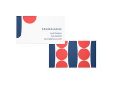 Pressure Business Cards by Lauren Davis #Design Popular #Dribbble #shots