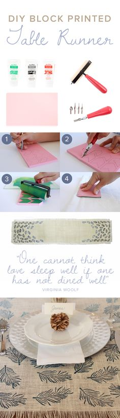 In  Awe of Robshaw - Create your Own Block Prints | #DIY by #darbysmart I want to make this now!!!