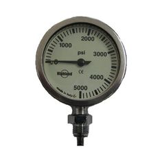 Highland Brass and Glass Pressure Gauge, Highland, Brass and Glass Pressure Gauge, HL301, Gauges, Gauges - Analog with…