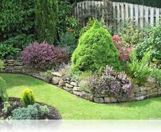 Rock Borders for Flower Beds | Home » Creative Rock Garden Flower Bed Borders » Garden Border Ideas ...