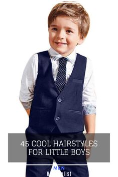 45 Hairstyle Ideas for Little Boys : Discover the most trending hairstyles for little boys and learn how to style them Little Boy Hairstyles, Cool Hairstyles, Hairstyle Ideas, Wavy Layers, How To Cut Bangs, Trending Hairstyles, Boyish, Pompadour, Haircuts For Men
