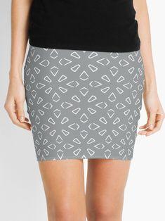 """Ultimate Gray #1"" Mini Skirt by Kettukas | Redbubble Mini Skirts, Grey, Gray, Mini Skirt"