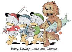 Huey, Dewey, Louie and Chewie