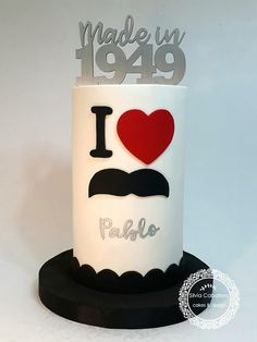 This my very first cake A double barrel cake quite tall indeed 😁. I love this theme and it was suitable for the occasion. Birthday Cake For Men Easy, Birthday Cakes For Men, Fondant Cakes, Cupcake Cakes, Moustache Cake, Happy Fathers Day Cake, Double Barrel Cake, Cake Design For Men, Cake For Boyfriend