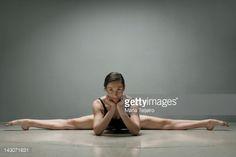 Stock Photo : Ballet dancer posing in splits