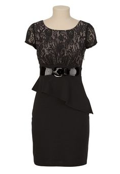 Lace Peplum 2Fer Dress available at #Maurices