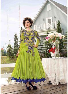 Fabric:- Heavy Soft net + Santoon Inner #AnarkaliSuits Price :- Rs.1490/- Design No.:- Sb-4351-21015