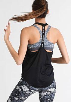 check out e8273 9bc2c Sports shirt - black white   Zalando.co.uk 🛒