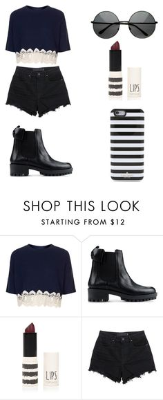 """""""Sin título #112"""" by karenrodriguez-iv on Polyvore featuring moda, Topshop, RED Valentino, Alexander Wang y Kate Spade"""