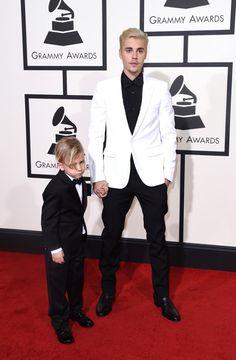 Justin Bieber Rocks Saint Laurent at 2016 Grammy Awards