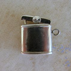 Cigarette Lighter Smoking Tobacco Vintage Silver Bracelet Charm Moves Free Shipping