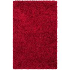 Monterey Shag Red 2 ft. 6 in. x 4 ft. Area Rug