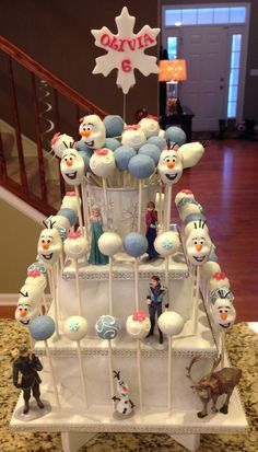 Disney #Frozen #CakePop Tower - For all your cake decorating supplies, please visit craftcompany.co.uk