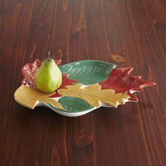 Maple Leaf Serving Platter