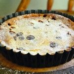 Maggie Beer's Cherry Clafoutis. Wikipedia explains why you leave the cherry pits in.
