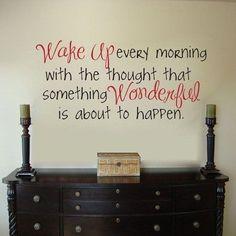 Wake up wonderful