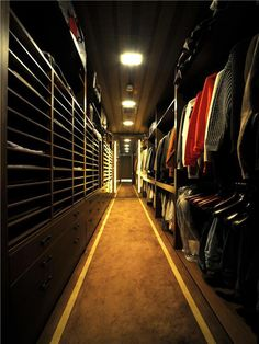 Luxury Gentleman's Closet at the World's Most Expensive Apartment $21.8 Million in Minami-Azabu, Tokyo, Japan