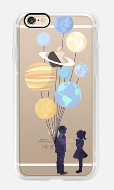 Casetify iPhone 7 Case and Other iPhone Covers -Space love ( romance and balloons f) by MARTA OLGA KLARA | #Casetify